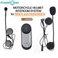 2016 updated version Freedconn Brand ! Motorcycle Helmet Bluetooth Headset auriculares for Rider and Passenger Pillion Intercom