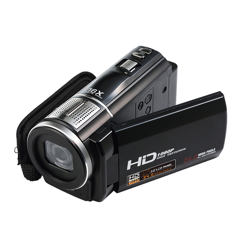 Portable Camera HDV-F5 Video DV Camcorder Full 1080P HD 16X Digital Zoom 3 Inch LCD Touch Screen Anti-shake Vedio Voice Recorder winait electronic image stabilization hdv z8 digital video camera with recording function touch screen