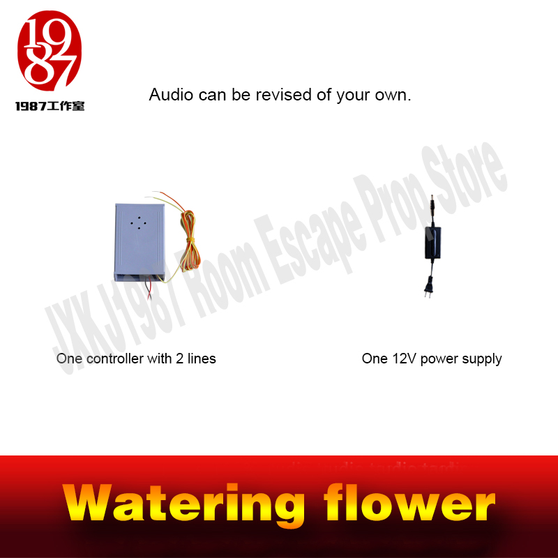 Real life room escape prop watering flower prop watering prop pouring water to unlock from JXKJ1987 for escape chamber room
