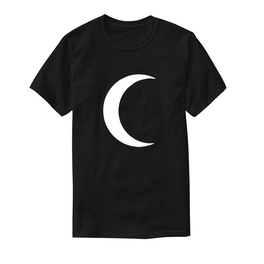 female t-shirt Moon Print Harajuku Top Funny Punk Bts Clothes TShirt Tops T-shirts for Women