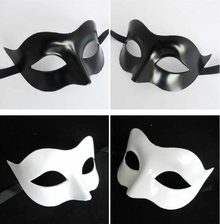 Halloween Sexy fox Mask Black White Half Face Mask Dance Performances Lady Adult Masquerade Festival Christmas Wedding Props