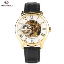 Men's Mechanical Analog Movement Watch Vogue Watches for Boys Casual Design Leather Band Strap Wristwatch for Teenagers shenhua 2698 men s stylish analog mechanical wristwatch w pu leather band black 1000pcs