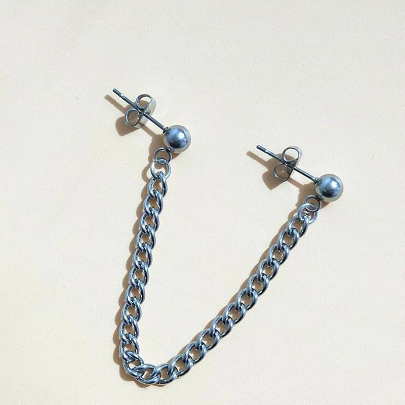 1pc V BTS Earrings Bangtan Boys DNA Earrings Womens Long Stainless steel chain Earring For Women Men Korean Pop