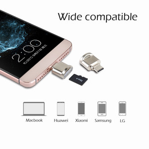 Image 3 - Tipo portatile C OTG Adapter Portachiavi Tipo C Micro lettore di Schede SD del Convertitore OTG Adapter con Scheda di Memoria di TF lettore di