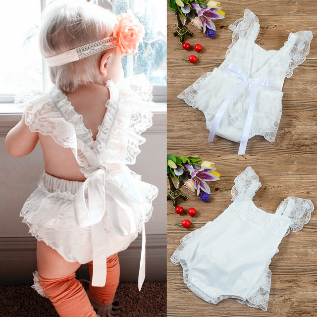 0f02915f81a1d New style Baby Rompers white Lace Baby Girl clothes fashion Summer princess Baby  Girls Clothing Set high quality Kids Jumpsuit