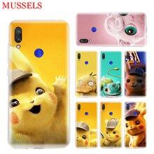 Pikachue Movie Trend Phone Case for Xiaomi Redmi S2 Y3 Y2 Note 7 7S 6 5 Pro 4 4X Mi Pocophone F1 9 8 A2 Lite Pattern Cover Coque