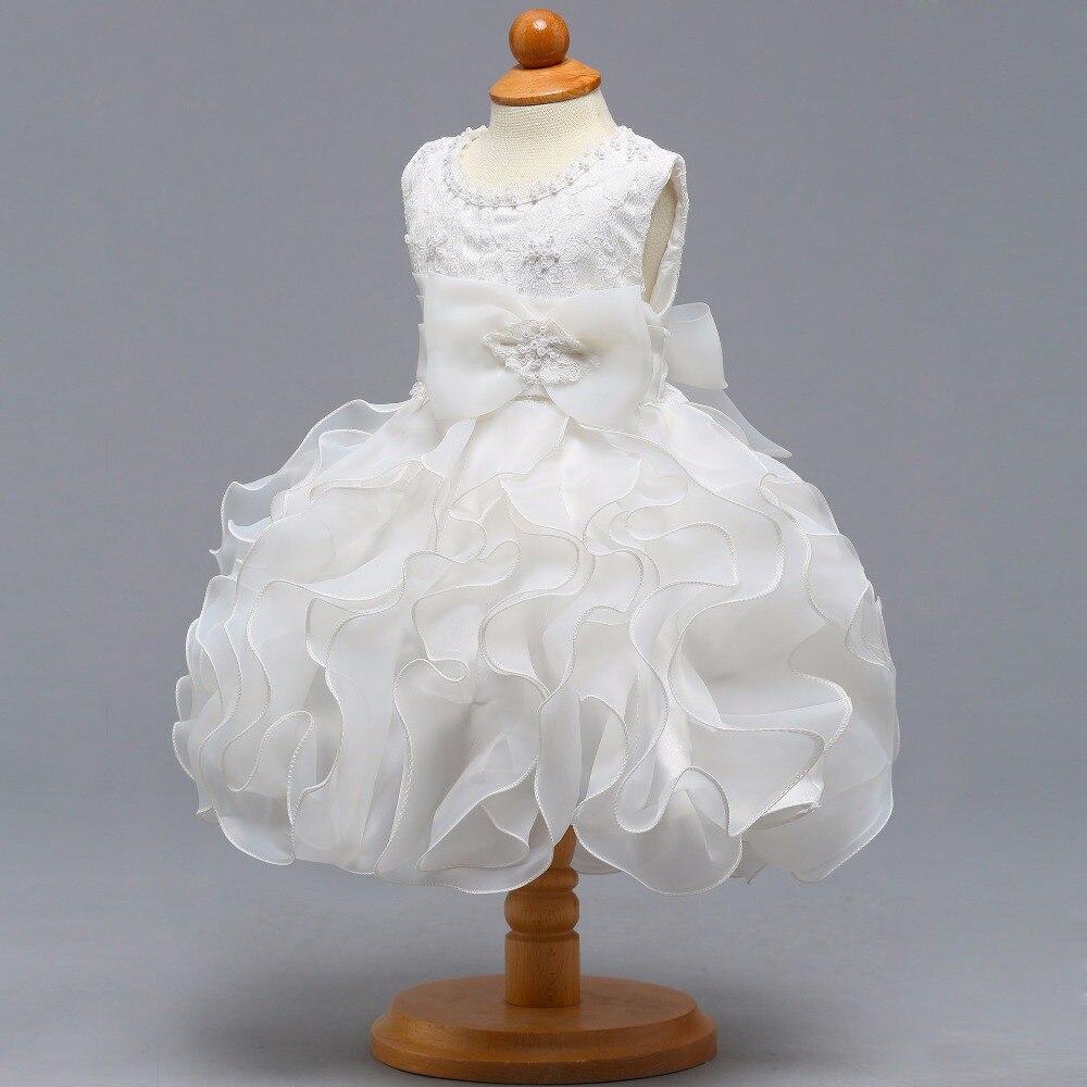 New O-neck Sleeveless Little Flower Girl Dresses Elegant Big Ruffle ...