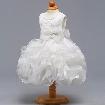 New O-neck Sleeveless Little Flower Girl Dresses Elegant Big Ruffle Girl Dress Princess Ball Gown sleeveless flower girls dress party maxi dress long princess dress ball gown girl elegant formal dress