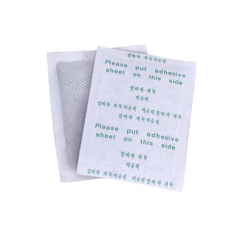 200 sztuk = 100 plastry + 100 kleje Detox Foot Patch wyszczuplanie ciała klocki anti-obrzęk imbir stóp łatka odchudzanie Herb toksyny Pad