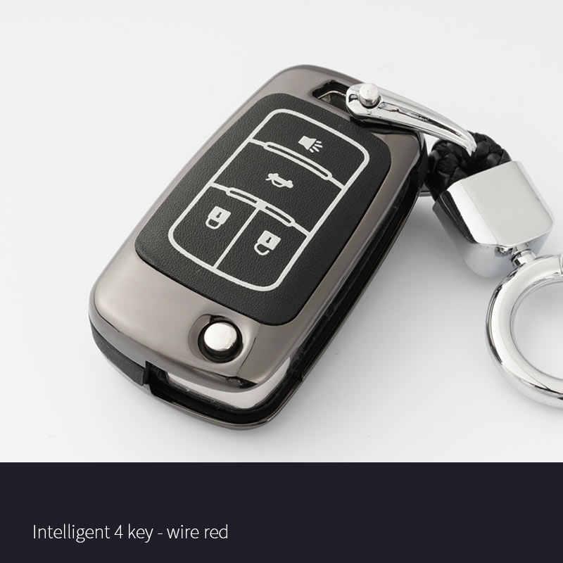 Оцинкованный сплав чехол для ключей автомобиля Chevrolet cruze аксессуары orlando tahoe trax OPEL
