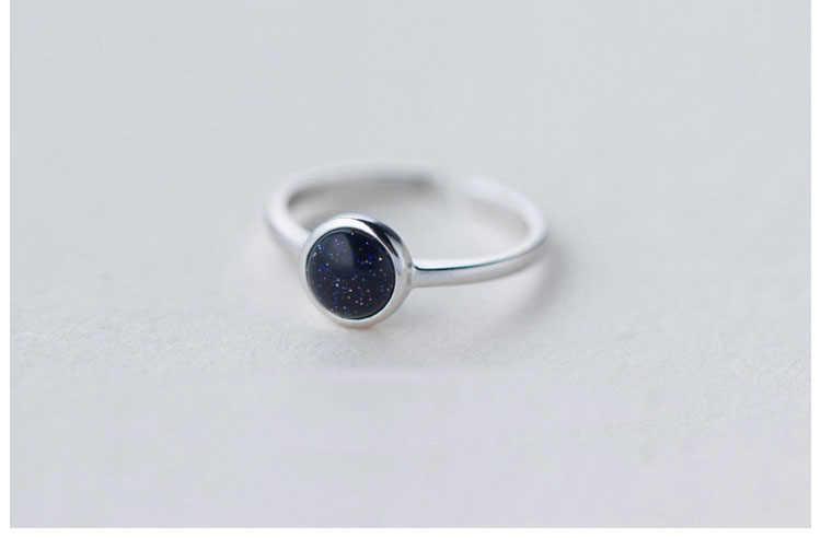 Новое поступление Модные Посеребренная блестящая черный опал кольца для женщин и девушек Регулируемый Обручение кольцо для женщин персональный подарок R61