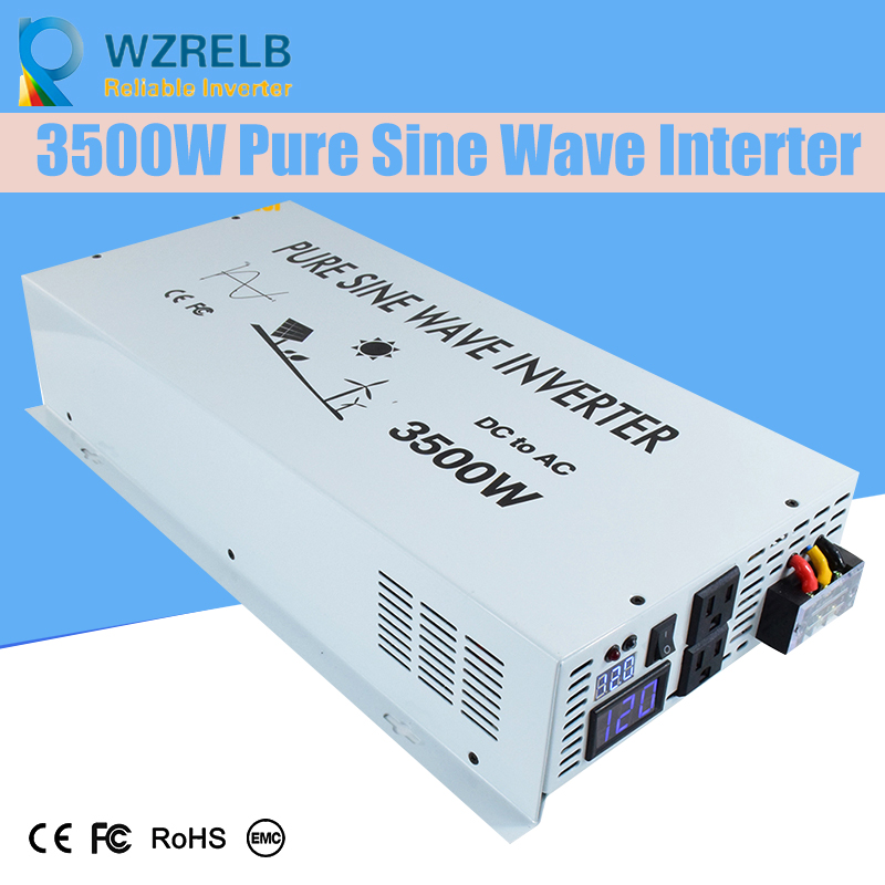 Reliable Continuous Power peak 3500w pure sine wave solar power inverter DC 12V / 24V 48V  110V