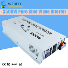 Reliable Continuous Power peak 3500w pure sine wave solar power inverter DC 12V / 24V / 48V /  110V