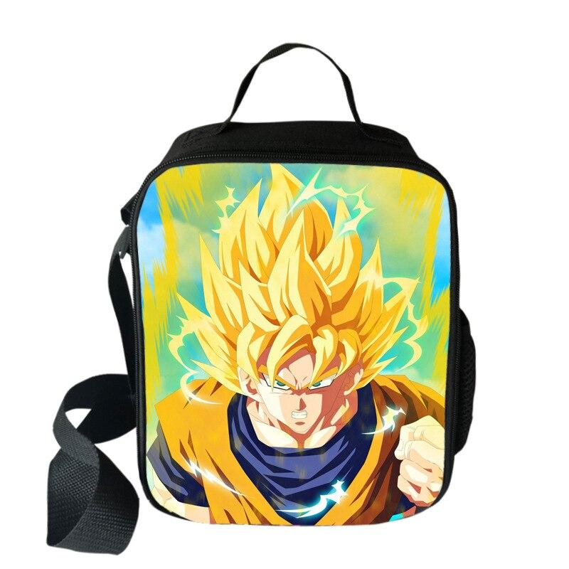 Dragon Ball d/'impression 3D Enfants École Thermique Isolé Picnic Cooler Lunch Bags