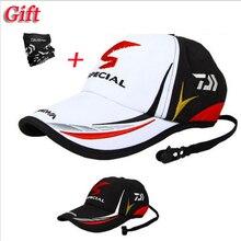 Daiwa бренд спорт на открытом воздухе Регулируемый Рыбалка солнцезащитный козырек Спорт Бейсбол рыбаков шляпа специальное ведро шляпа с буквой Кепка