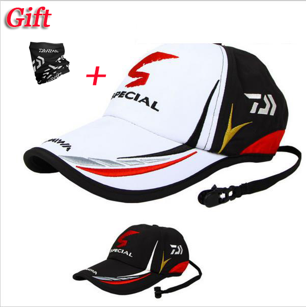 2019 Daiwa New Brand Outdoor Sport Adjustable Fishing Sunshade Sport Baseball Fishermen Hat Special Bucket Hat With Letter Cap