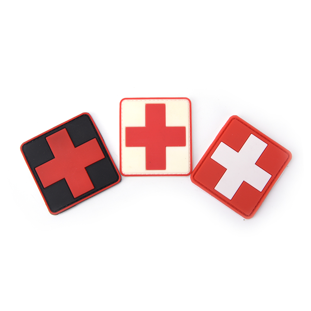 New 3d Pvc Rubber Medic Paramedic Red Cross Flag Of Switzerland Swiss Cross Patch Backpack Tactical Army Morale Badge Patches Entertainment Memorabilia Music Memorabilia