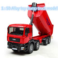 Free shipping ! 1 : 50 alloy slide car toy models construction vehicles ,dump truck model,Children's favorite