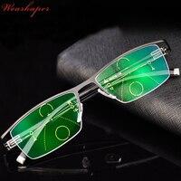 WEARKAPER New Goggles Multifocal Progressive Anti Blue Rays Reading Glasses Computer Diopter Presbyopic Eyeglasses