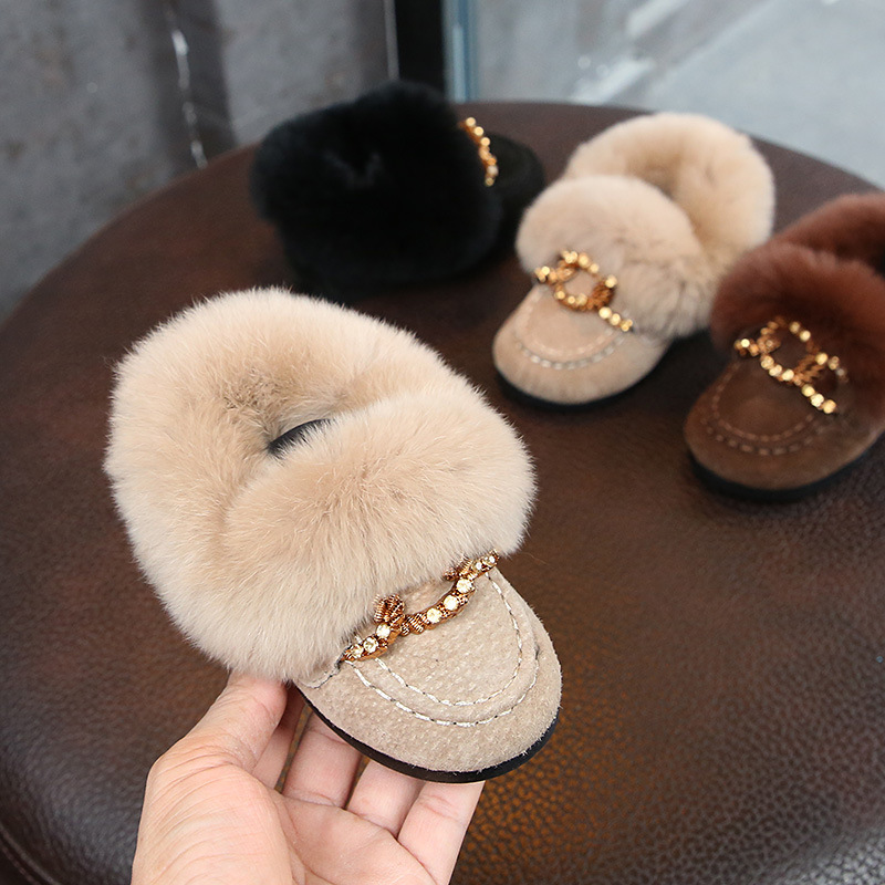 все цены на POSH DREAM Winter Girls Daughter Winter Shoes for Baby Girls Cotton Warm Fur Cotton Boots Baby Girls Winter Snow Boots Shoes онлайн