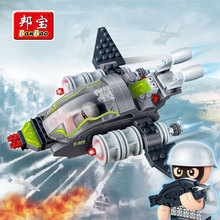 "[small particles] buoubuou City Super police Mega Blocks toys "" type 6213 Falcon &rdquo aircraft;"