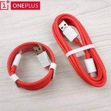 Original Oneplus Dash Charger Cable 6T/6/5T/5/3T/3 smartphone usb type-c 4A quick fast Charge data line 100/200cm red round