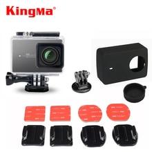 KingMa Xiaomi Yi 2 Accessories Waterproof Case+Silicone Case Lens Cover+Flat Curved Mount for Xiaomi YI 2 Action Camera 4k II