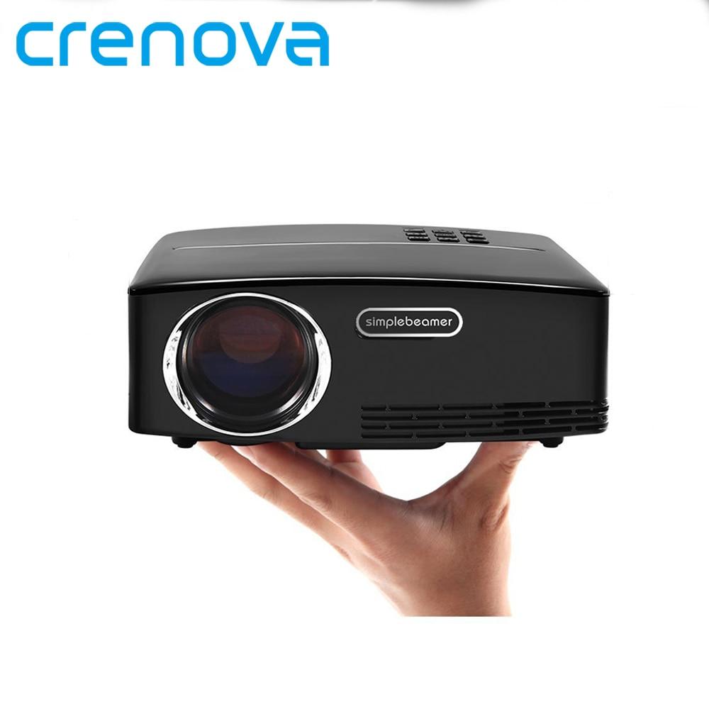 CRENOVA de alta calidad Mini proyector Full HD 1920*1080 p proyectores de cine en casa con Android 6,1 OS WIFI bluetooth Beamer
