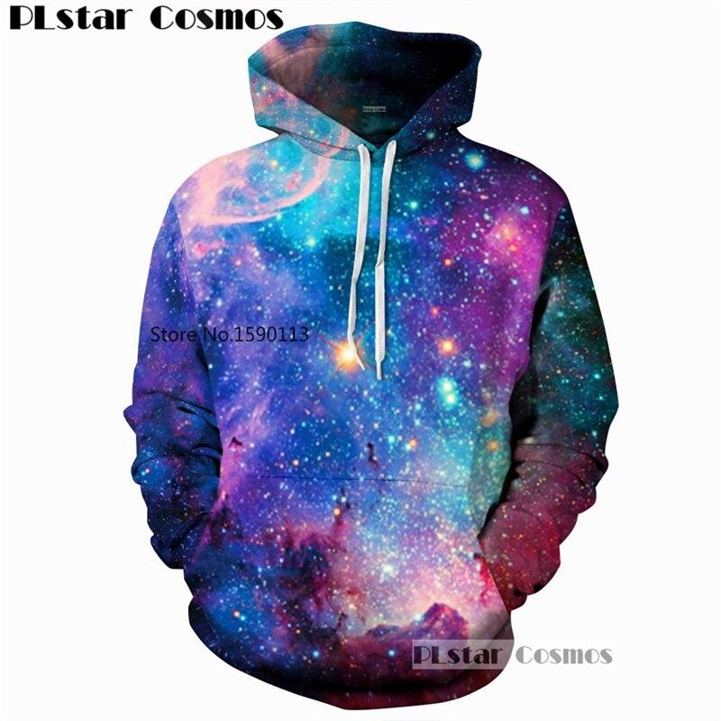 PLstar Cosmos dream Galaxy Fashion Sweatshirts 2018 New colorful Hoodies Women/Men Hooded 3D Printed