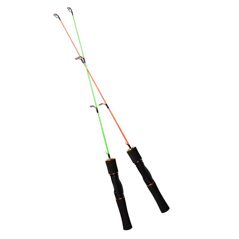 2pcs lot 2 sections 75cm 85cm 2 5ft 2 8ft ice fishing rod for Green fishing rod