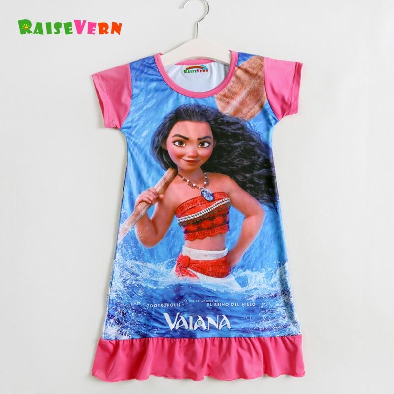 2019 Uusi Moana 3D-sarjakuva painettu vauva tyttö mekot Lapset - Lastenvaatteet