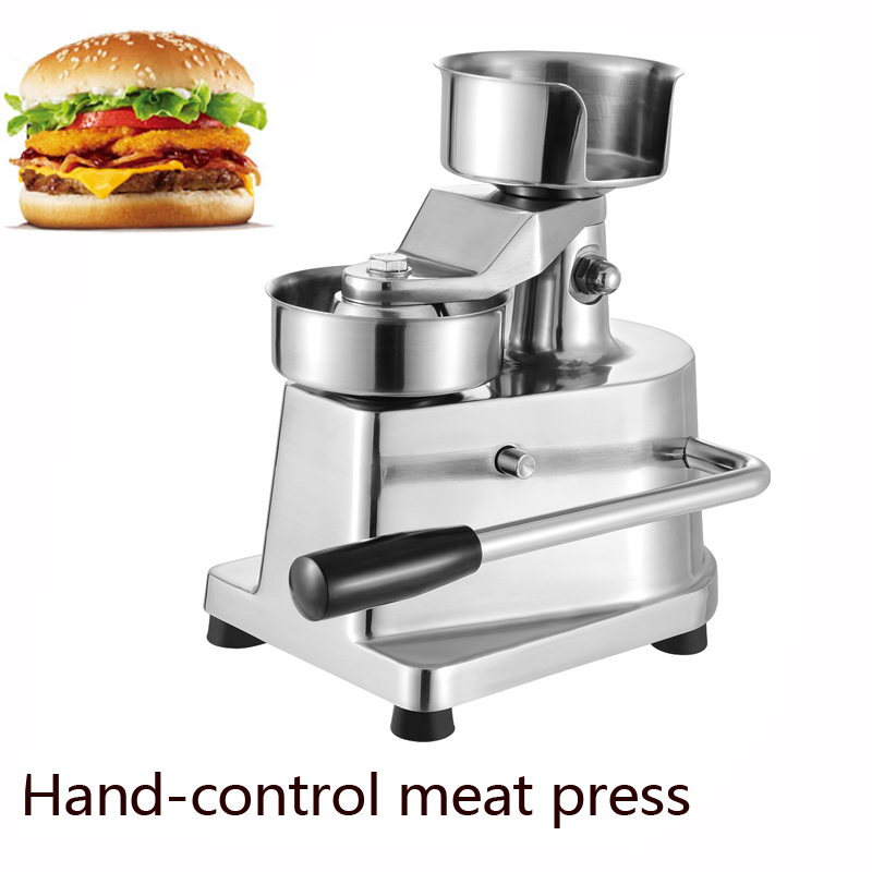 100mm 30mm Manual Hamburger Press Forming Burger Patty Meat shaping Stainless Steel Machine Household Commercial