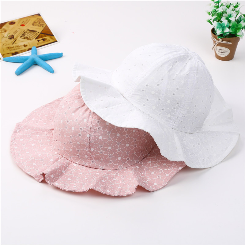 2018 Infant Summer Outdoor Baby Girl Visor Cotton Sun Cap Baby Hat Floral Prints Beach Bucket Hats Headwear Caps Brim Sun Hat матирующие салфетки limoni matte blotting papers объем 100 шт