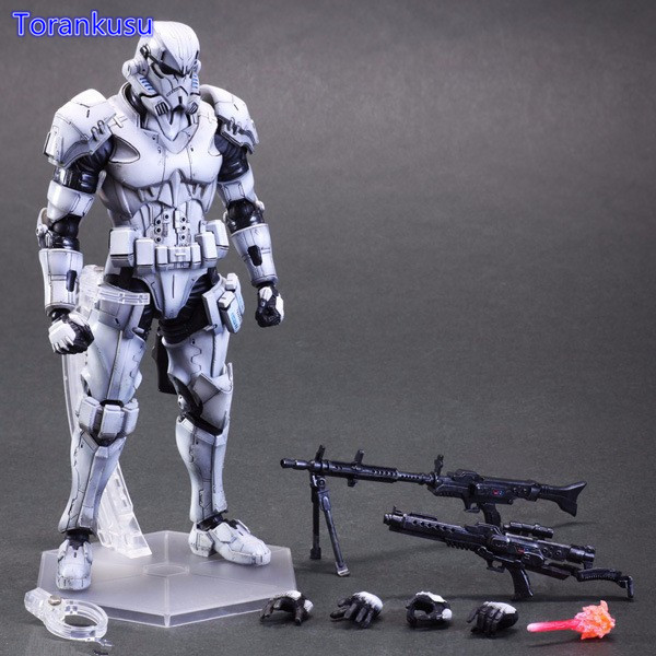 Star Wars Action Figure Play Arts Kai Imperial Stormtrooper Collection Model Toys Star Wars Stormtrooper Playarts Soldado PA23 star wars taiko yaku stormtrooper 1 8 scale painted variant stormtrooper pvc action figure collectible model toy 17cm kt3256