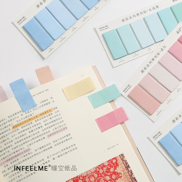 Mohamm 120 Sheets Creative Colorful Memo Pad Sticky Notes Memo Paper Index Bookmark Notebook Stationery School Office Supplies