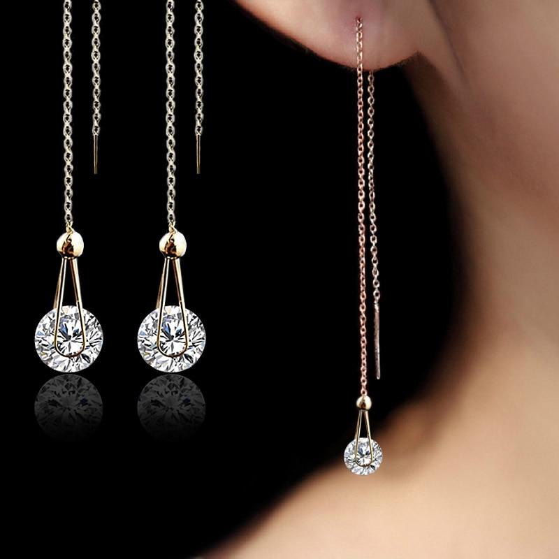 Floating Diamond Drop Earrings