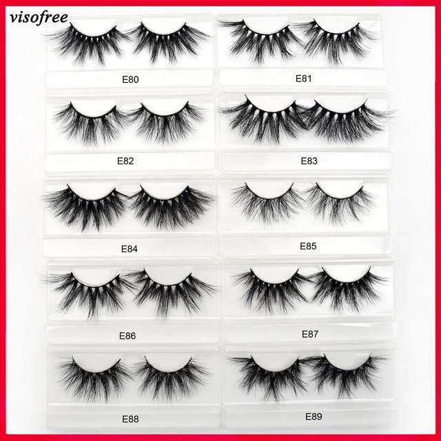fb62d7a852d Visofree 25mm Lashes Mink Eyelashes 3D Mink Strip Eyelashes Long Dramatic  Full Lashes Handmade Makeup False