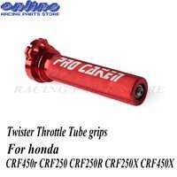 CNC aluminium Twister Gas Rohr griffe für honda crf450r crf crf250 CRF250R CRF250X CRF450X pit bike teile dirtbike motorrad