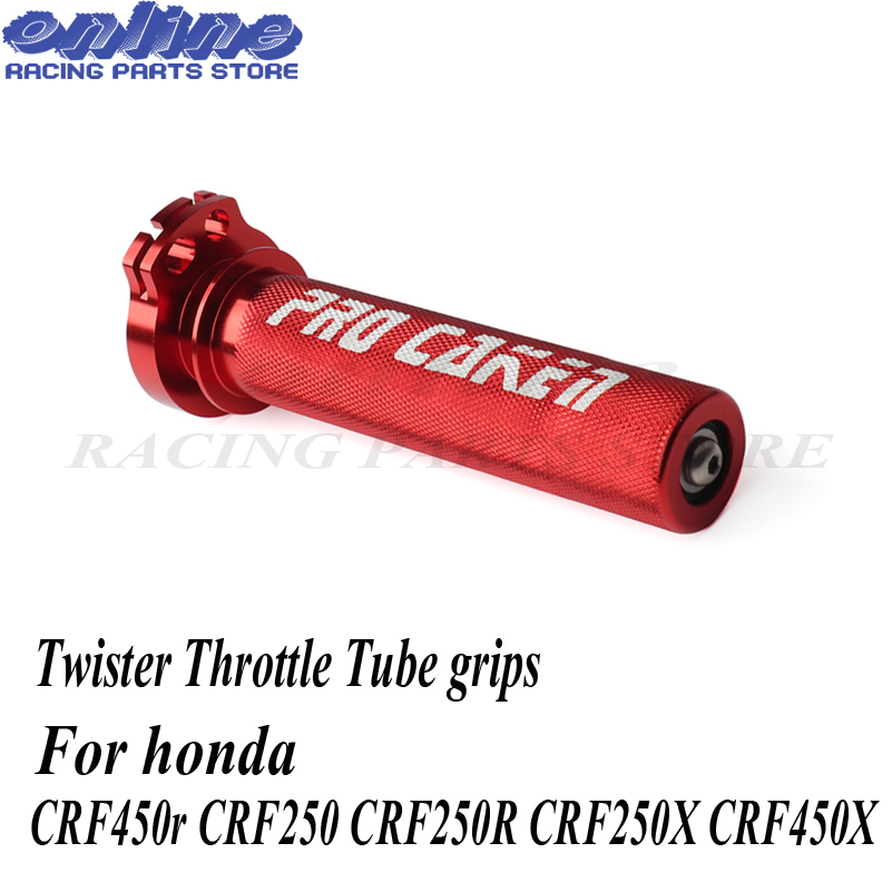 CNC Aluminum Twister Throttle Tube Grips For Honda Crf450r Crf Crf250 CRF250R CRF250X CRF450X Pit Bike Parts Dirtbike Motorcycle