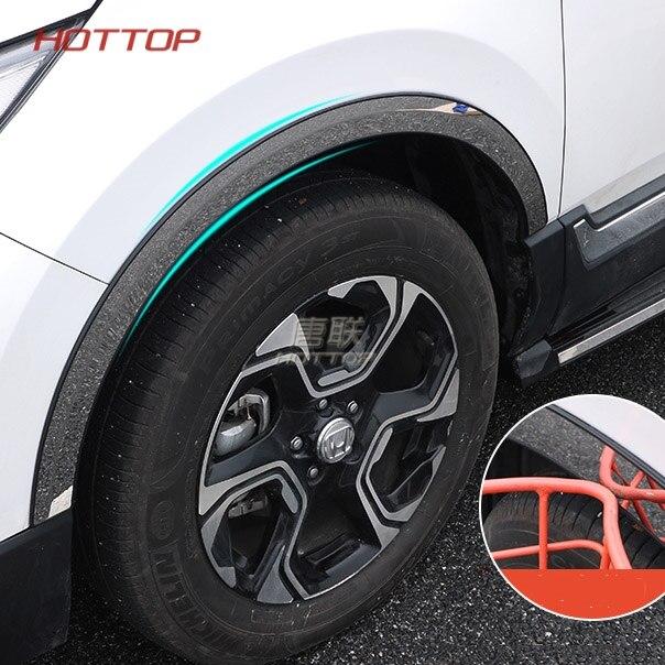 Roues de voiture De style sourcils Anti-collision Bande Autocollants Fit Pour Honda Crv 2017 2018 CR-V accessoires