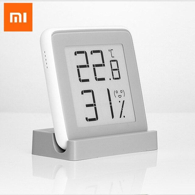 Xiaomi miaomiaoce e link tinta tela inteligente display digital medidor de umidade de alta precisão termômetro sensor de umidade de temperatura