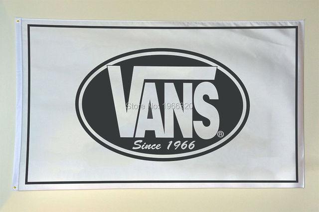 07cccbd60bfb0b Vans Clothing Shoes Surf Store Advertising Decoration Garage Banner Flag  3X5 144  96cm Custom flag