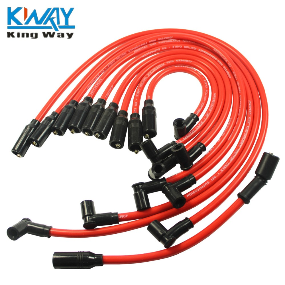 Plug-Wire-Set CHEVY SPARK FOR 1992-1997 LT1 LT4 Way-Red