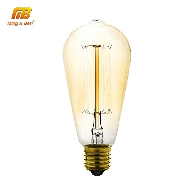 Vintage Edison Bulbs E27 E14 220V Incandescent Bulb 25W 40W 60W ST64 G95 T45 Filament Bulb Retro Edison Light For Pendant Lamp