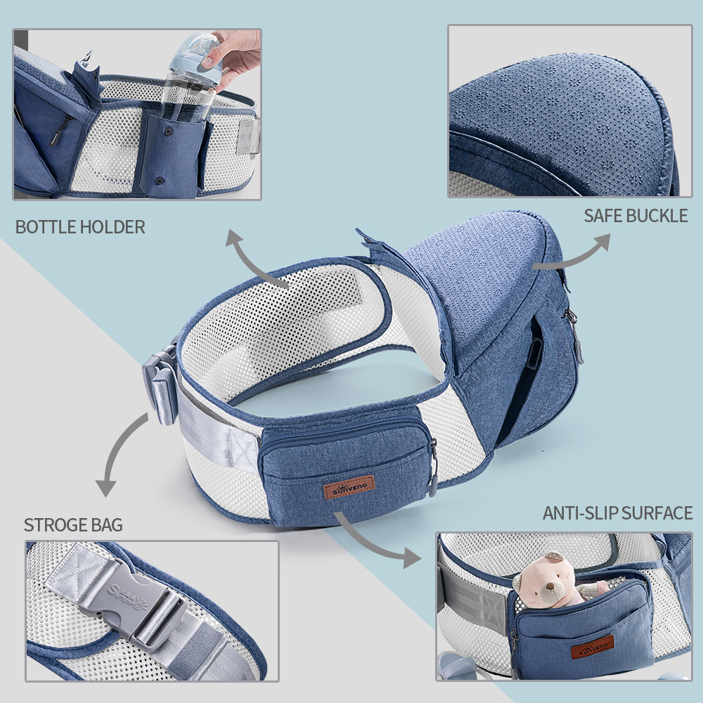 Image 4 - Sunveno Breathable Baby Carrier Ergoryukzak Front Facing Baby Carrier Comfortable Sling for Newborns-in Backpacks & Carriers from Mother & Kids