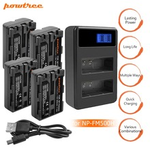 цена на 4x Replacement Battery NPFM500H+bateria NP-FM500H NP FM500H Charger for Sony A200 A200K A200W A300 A350 A450 Camera Battery L20