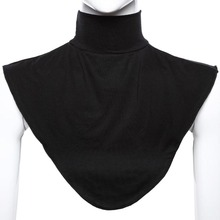 Islamic Hijab Extensions Neck Chest Back Cover Modal Scarf Half T Shirt Muslim Collar Fashion Solid Color