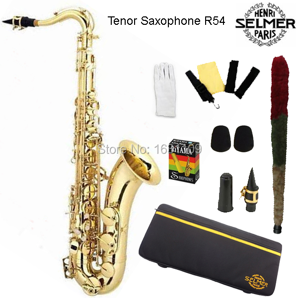 Brand New France Selmer Tenor Saxophone R54 Professional B Gold Sax mouthpiece With Case and Accessories