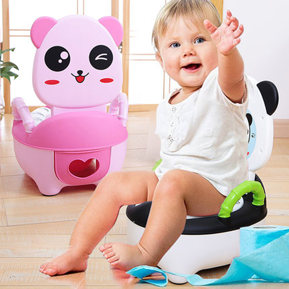 Portable Baby Potty Cute Kids Potty Training Seat Children's Urinals Baby Toilet Bowl Cute Cartoon Pot Training Pan Toilet Seat cartoon duck child seat toilet portable safe backpack baby urinals baby training toilet baby potty with armrest