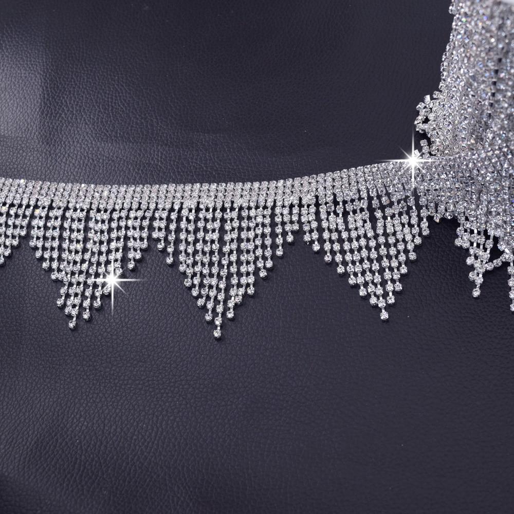 5 meter Sehr Luxus Strass applikationen für Hochzeitskleid gürtel ...